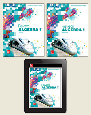 Reveal Algebra 1, Student Bundle, 1-year subscription
