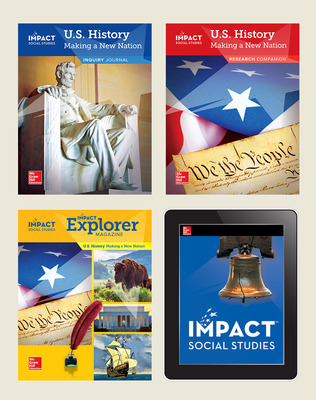 IMPACT Social Studies, U.S. History: Making a New Nation, Grade 5, Complete Print & Digital Student Bundle, 6 year subscription