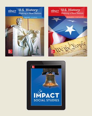 IMPACT Social Studies, U.S. History: Making a New Nation, Grade 5, Foundational Print & Digital Student Bundle, 6 year subscription