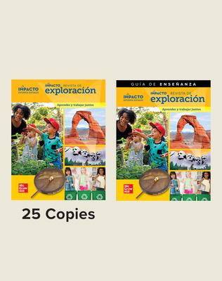 IMPACTO Social Studies, Aprender y trabajar juntos, Grade K, Explorer Magazine Class Set (25) with Teaching Guide