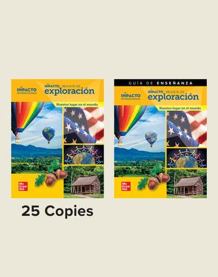 IMPACTO Social Studies, Nuestro lugar en el mundo, Grade 1, Explorer Magazine Class Set (25) with Teaching Guide