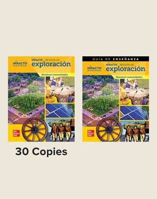 IMPACTO Social Studies, Nuestras comunidades, Grade 3, Explorer Magazine Class Set (30) with Teaching Guide