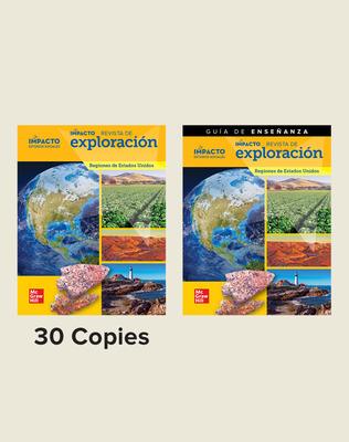 IMPACTO Social Studies, Regiones de Estados Unidos, Grade 4, Explorer Magazine Class Set (30) with Teaching Guide