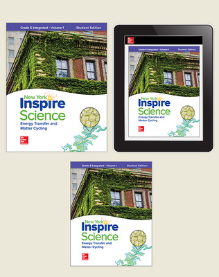 Inspire Science, NY, Grade 6 Integrated Complete Digital & Print Student Bundle, 1-year subscription