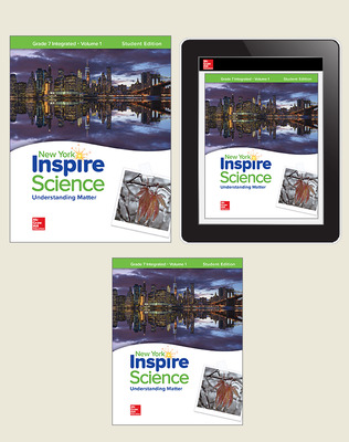 Inspire Science, NY, Grade 7 Integrated, Complete Digital & Print Student Bundle, 1-year subscription