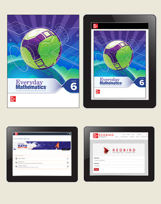 Everyday Math 4 Comprehensive Student Materials Set with Redbird and Arrive Math Booster, 7-Years, Grade 6