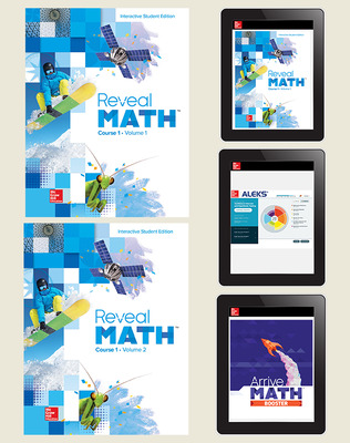 Reveal Math, Course 1, Student Bundle with ALEKS and Arrive Math Booster, 6-year subscription