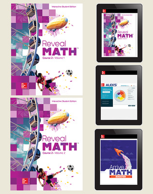 Reveal Math, Course 2, Student Bundle with ALEKS and Arrive Math Booster, 6-year subscription