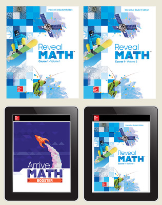 Reveal Math Course 1, Student Bundle with Arrive Math Booster, 6-year subscription