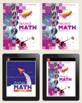 Reveal Math Course 2, Student Bundle with Arrive Math Booster, 6-year subscription