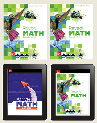 Reveal Math Course 3, Student Bundle with Arrive Math Booster (Print+Digital+Arrive), 1-year subscription
