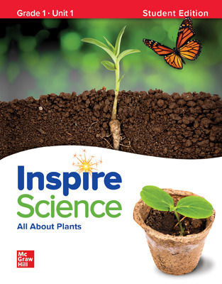 Inspire Science,  Grade 1 Online Student Center with Print Student Edition Units 1-4, 5 Year Subscription