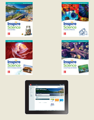 Inspire Science,  Grade 2 Online Student Center with Print Student Edition Units 1-4, 6 Year Subscription