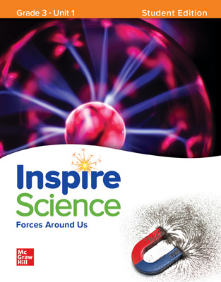 Inspire Science,  Grade 3 Online Student Center with Print Student Edition Units 1-4, 7 Year Subscription