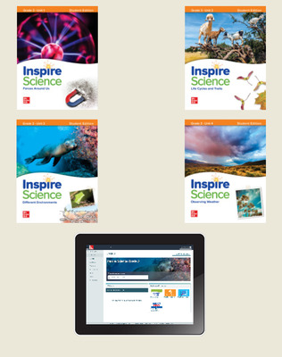 Inspire Science, Grade 3 Online Student Center with Print Student Edition Units 1-4, 6 Year Subscription