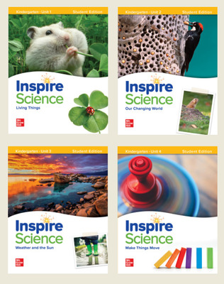 Inspire Science Grade K, Print Student Edition Bundle (Units 1-4)