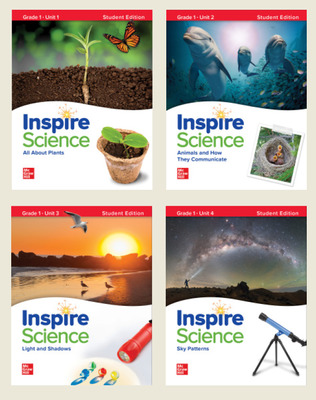 Inspire Science Grade 1, Print Student Edition Bundle (Units 1-4)