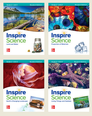 Inspire Science Grade 2, Print Student Edition Bundle (Units 1-4)