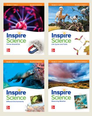 Inspire Science Grade 3, Print Student Edition Bundle (Units 1-4)