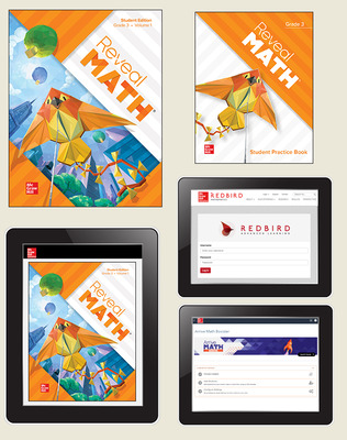 Reveal Math, Grade 3, Student Bundle with Redbird and Arrive Math Booster, 6-years