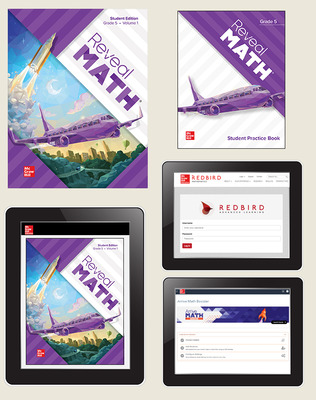 Reveal Math, Grade 5, Student Bundle with Redbird and Arrive Math Booster, 6-years