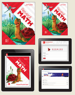 Reveal Math, Grade 1, Student Bundle with Redbird and Arrive Math Booster, 1-year