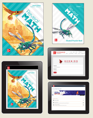 Reveal Math, Grade 2, Student Bundle with Redbird and Arrive Math Booster, 1-year