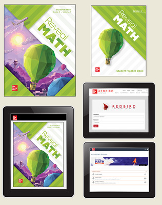 Reveal Math, Grade 4, Student Bundle with Redbird and Arrive Math Booster, 1-year