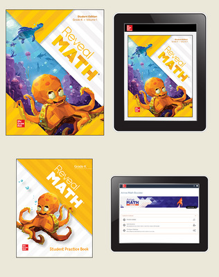 Reveal Math, Grade K, Student Bundle with Arrive Math Booster, 6-years
