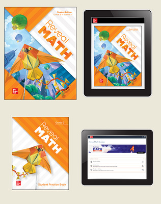 Reveal Math, Grade 3, Student Bundle with Arrive Math Booster, 6-years