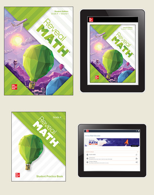 Reveal Math, Grade 4, Student Bundle with Arrive Math Booster, 6-years