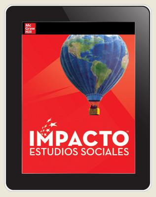 IMPACTO Social Studies, Nuestro lugar en el mundo, Grade 1, Online Teacher Center, 6-year subscription