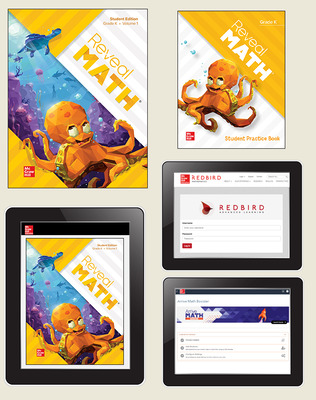 Reveal Math, Grade K, Student Bundle with Redbird and Arrive Math Booster, 6-years