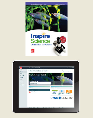 Inspire Science: Integrated Grade 6 Comprehensive Student Bundle w/SyncBlasts, 6-year subscription
