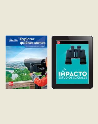 IMPACTO Social Studies, Explorar quiénes somos, Grade 2, Inquiry Print & Digital Student Bundle, 6 year subscription