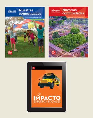 IMPACTO Social Studies, Nuestras comunidades, Grade 3, Foundational Print & Digital Student Bundle, 6 year subscription