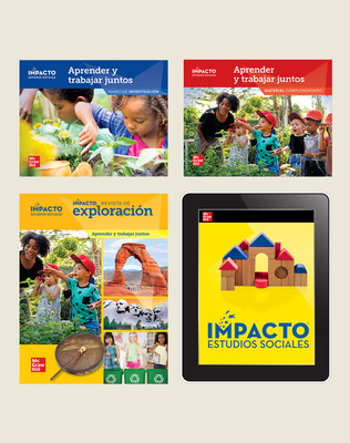 IMPACTO Social Studies, Aprender y trabajar juntos, Grade K, Complete Print & Digital Student Bundle, 6 year subscription