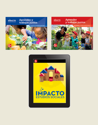 IMPACTO Social Studies, Aprender y trabajar juntos, Grade K, Foundational Print & Digital Student Bundle, 1 year subscription