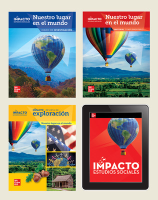 IMPACTO Social Studies, Nuestro lugar en el mundo, Grade 1, Complete Print & Digital Student Bundle, 1 year subscription