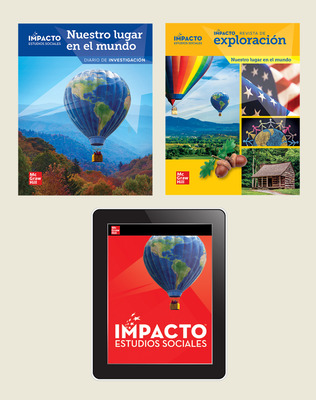 IMPACTO Social Studies, Nuestro lugar en el mundo, Grade 1, Explorer with Inquiry Print & Digital Student Bundle, 6 year subscription
