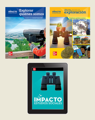 IMPACTO Social Studies, Explorar quiénes somos, Grade 2, Explorer with Inquiry Print & Digital Student Bundle, 1 year subscription