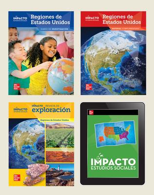 IMPACTO Social Studies, Regiones de Estados Unidos, Grade 4, Complete Print & Digital Student Bundle, 1 year subscription