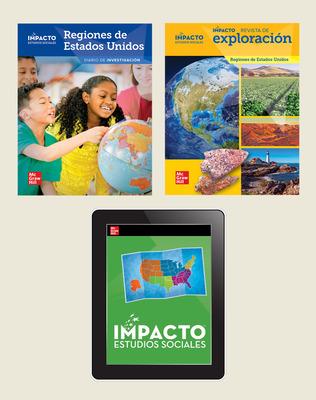 IMPACTO Social Studies, Regiones de Estados Unidos, Grade 4, Explorer with Inquiry Print & Digital Student Bundle, 6 year subscription