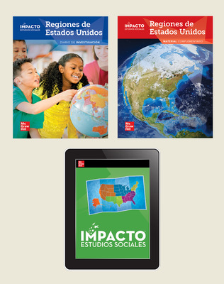 IMPACTO Social Studies, Regiones de Estados Unidos, Grade 4, Foundational Print & Digital Student Bundle, 1 year subscription