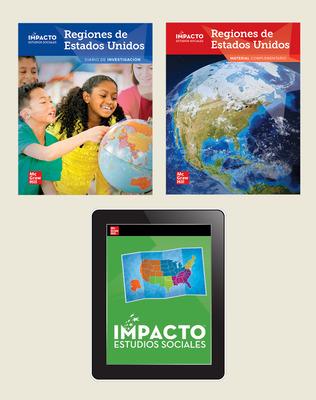 IMPACTO Social Studies, Regiones de Estados Unidos, Grade 4, Foundational Print & Digital Student Bundle, 6 year subscription