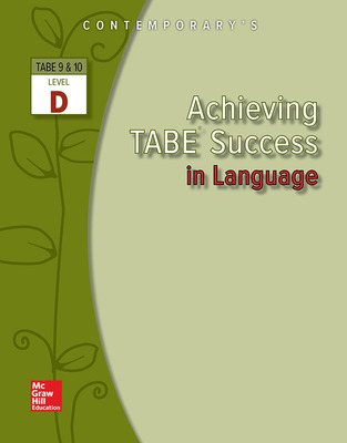 Achieving TABE Success In Language, Level D Workbook