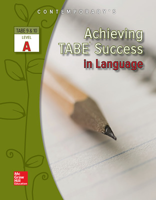 Achieving TABE Success In Language, Level A Workbook