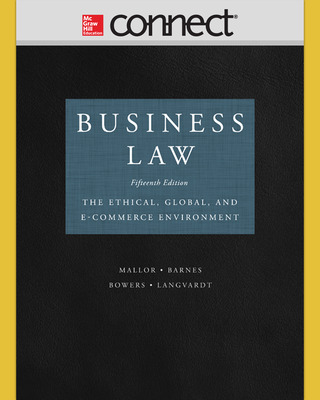 Connect 2-Semester online Access for Business Law
