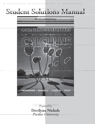 Student's Solution Manual for Calculus for Business, Economics, and the Social and Life Sciences