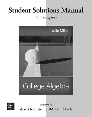 Students Solutions Manual For College Algebra